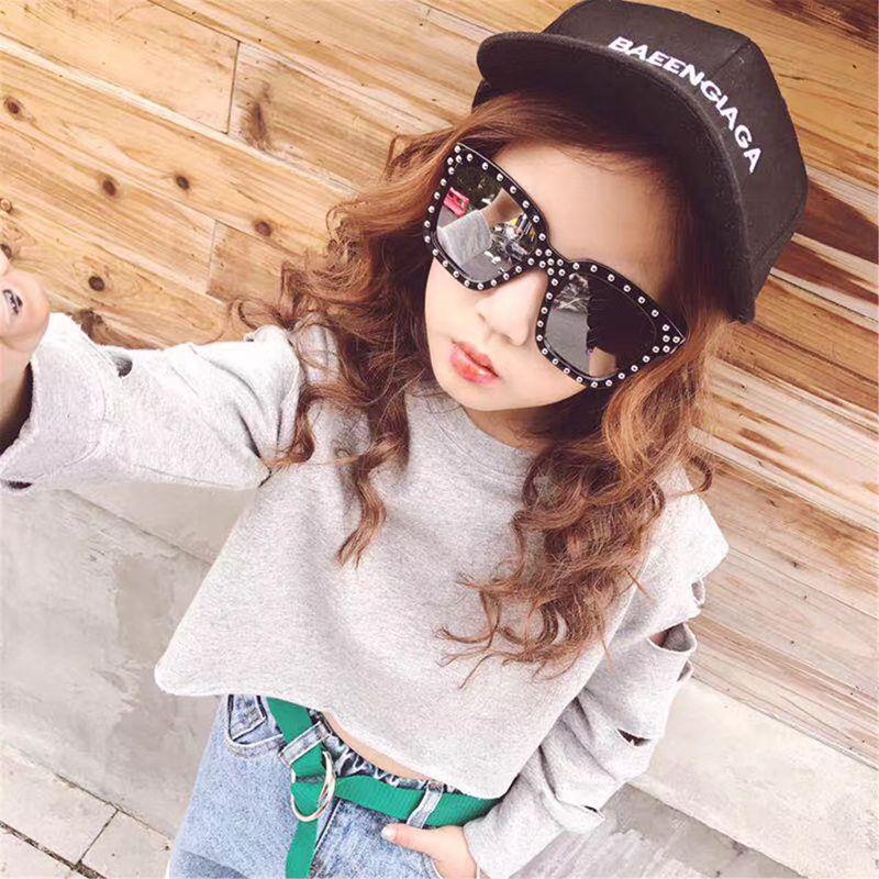 儿童太阳镜男童眼镜防紫外线舒适铆钉蛤蟆镜学生女童宝宝个性墨镜