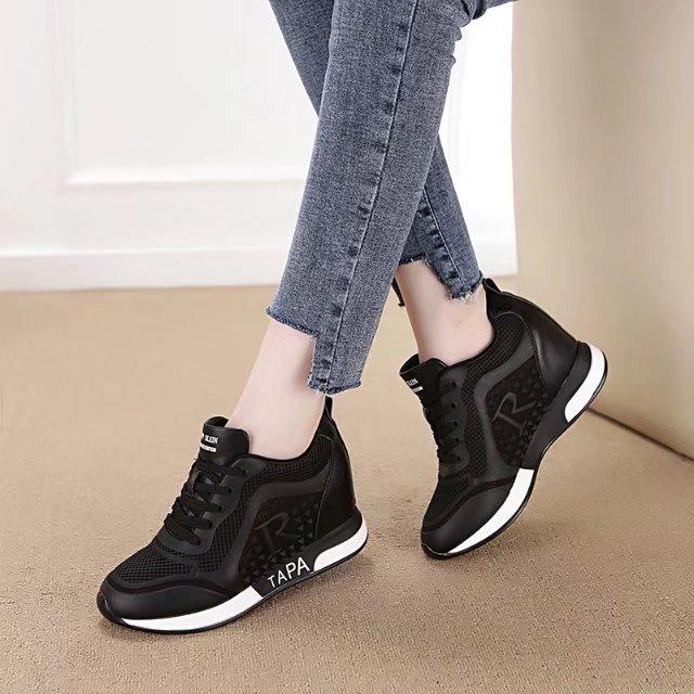 2017新款运动鞋跑步鞋透气内增高网鞋镂空韩版系带百搭休闲女鞋子