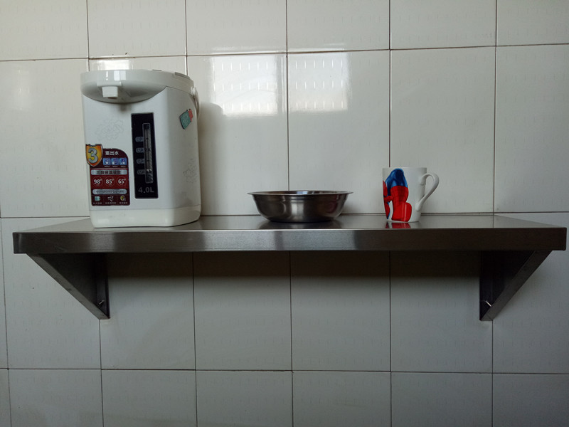 The wall hanging rack can be custom-made stainless steel hanging wall hanging frame shelf kitchen shelf microwave oven single partition