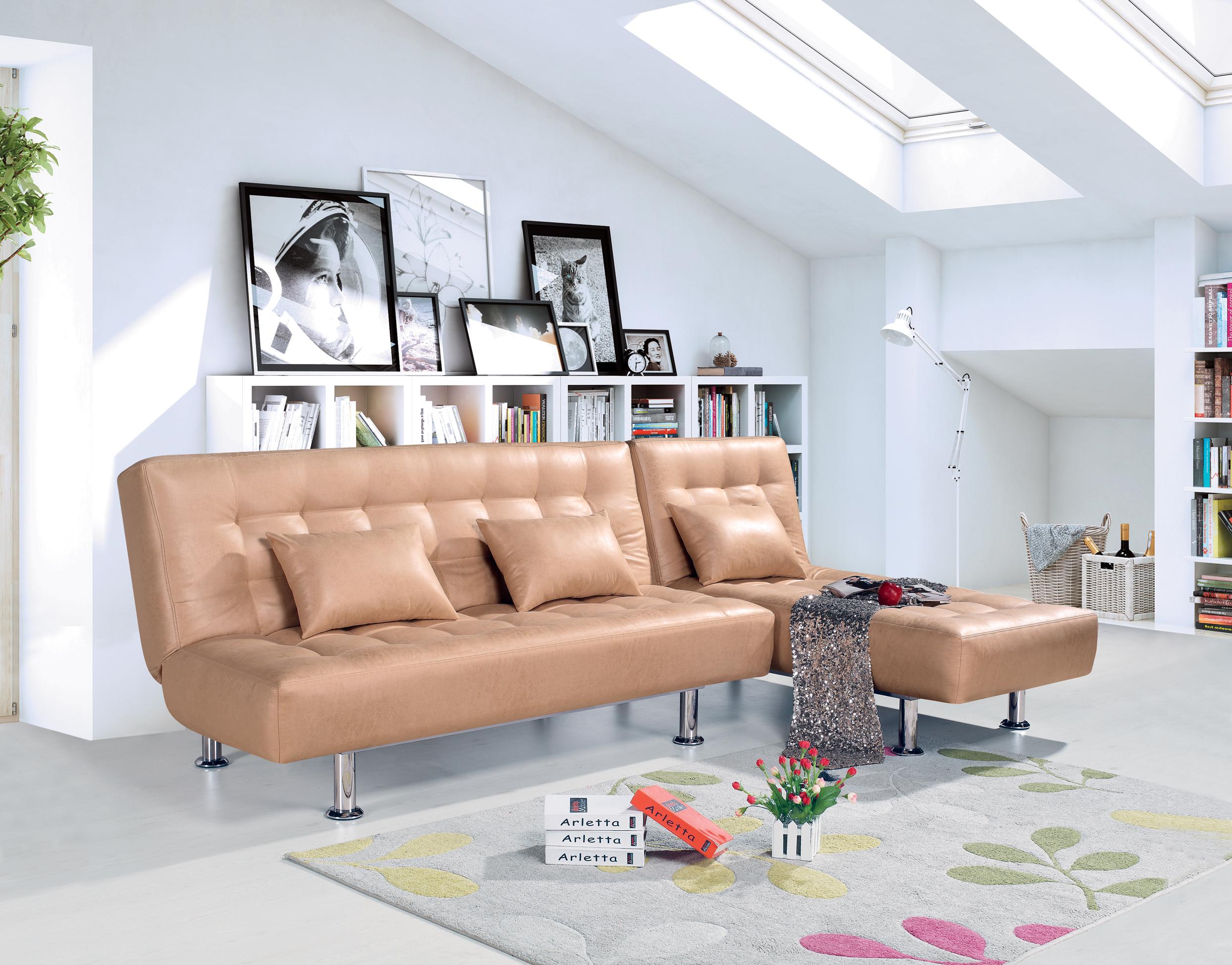 折り畳みソファーベッドL型ユニット小型タイプソファ1メートル、1メートル、小型のリビングルーム、ソファ