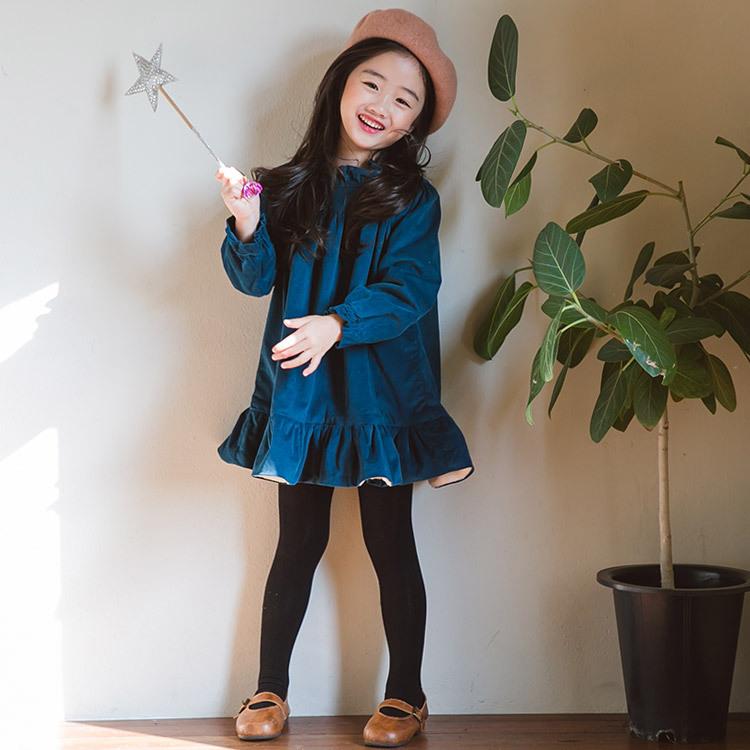 冬季 新款童装连衣裙中小女童 加绒 可爱娃娃 保暖裙装
