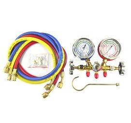 Kaemi doble válvula del manómetro CM-536G-O-R220.9m flúor con aire acondicionado automotriz mantenimiento tabla tabla tabla de doble válvula de refrigerante