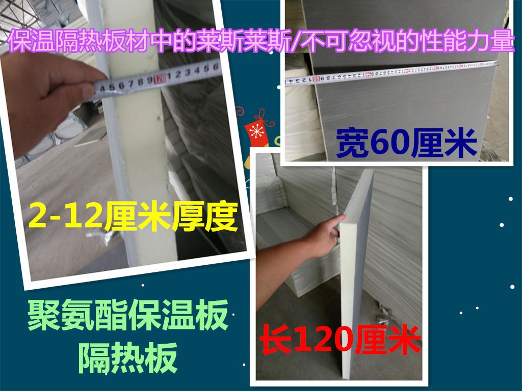 Aislamiento de poliuretano en el techo de placa compuesta de fuego de la pared exterior de los materiales de aislamiento térmico de las casas