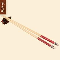 木艺阁 天然环保竹筷 阿里山熊猫竹筷子 家用酒店便携餐具 卡通筷
