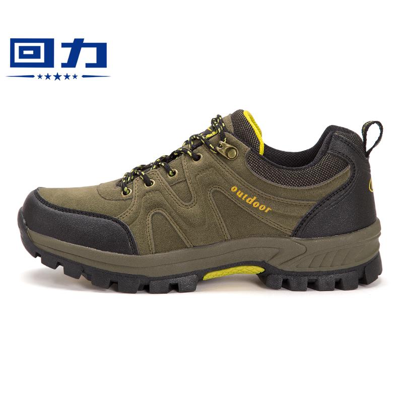 【天天特价】回力男鞋户外登山鞋男防滑运动鞋低帮徒步鞋秋季新款