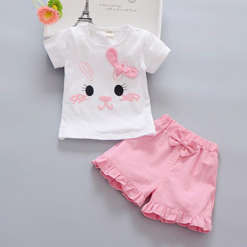 羞羞兔短褲套裝粉色