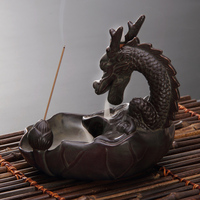 Smokeless incense burner Satin back Japanese Guta Ge alloy ornaments back burner Every dog has his day.