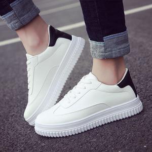 33新款春季学生小白鞋厚底休闲运动鞋跑步鞋板鞋韩版松糕鞋 中