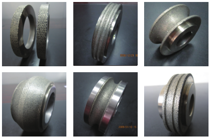 Plunge molding grinding wheel, diamond roller dresser standard product or customer supplied blueprint customization