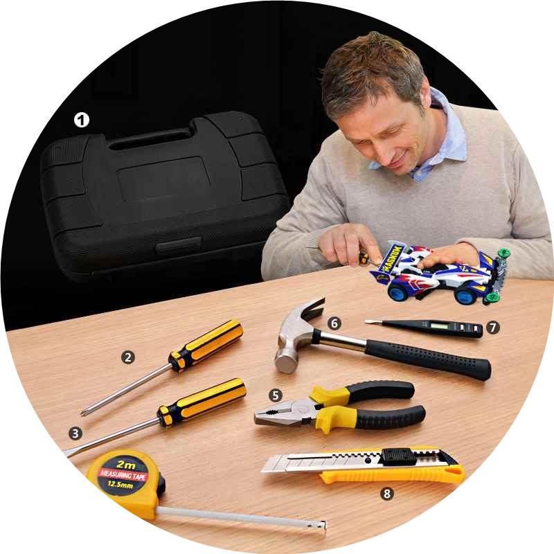 - Raj gli attrezzi multiuso elettricista Hardware Kit completo Set di strumenti a Carica Manuale di perforazione