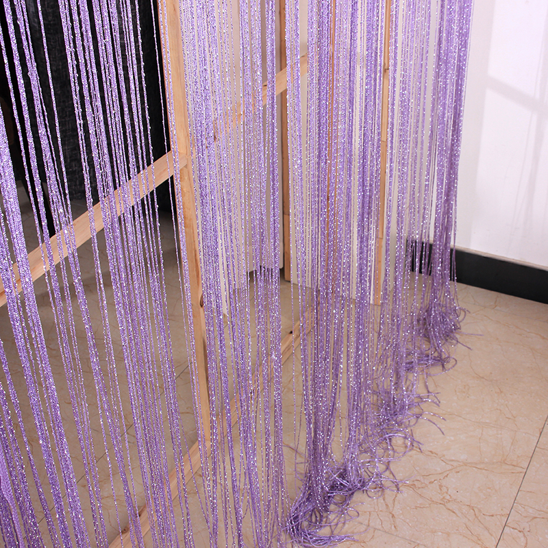Cloth curtain line Club salon partition lines silver home decoration wall thick line layout curtain rail winding
