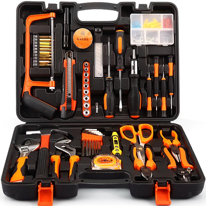 Manual tool screwdriver wrench combination household hardware toolbox, electrical carpentry maintenance special