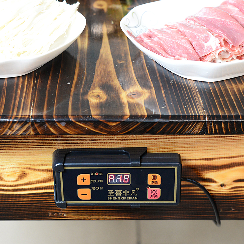F-288F hot pot hotel with round embedded 2000 Watt wire controlled chafing dish electromagnetic oven
