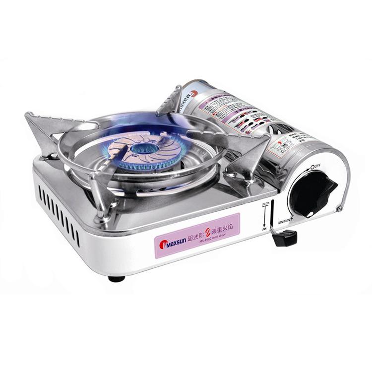 Аутентичные вен свежие портативный кассетный плита полевых пикник хого печи огневой мощи MS8000 мини - двойной