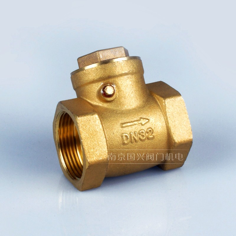 All copper horizontal check valve, one-way valve, vertical check valve, stop valve 4 points, 6 points, 1 inches 6580100