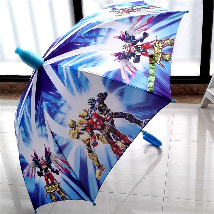 直杆铠甲勇士儿童伞奥特曼男童女小学生自动卡通晴雨伞长柄伞
