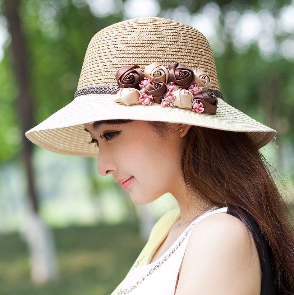 米色m(56-58cm)草帽沙灘帽子女夏天韓版大沿防曬遮陽太陽帽戶外青年百搭出游