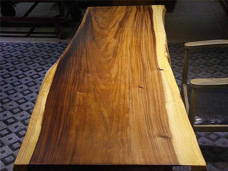 Noix de dalles de bureau en bois de l'Amérique du Sud à l'origine de la table à thé simple planche 190x77-88x6 spot