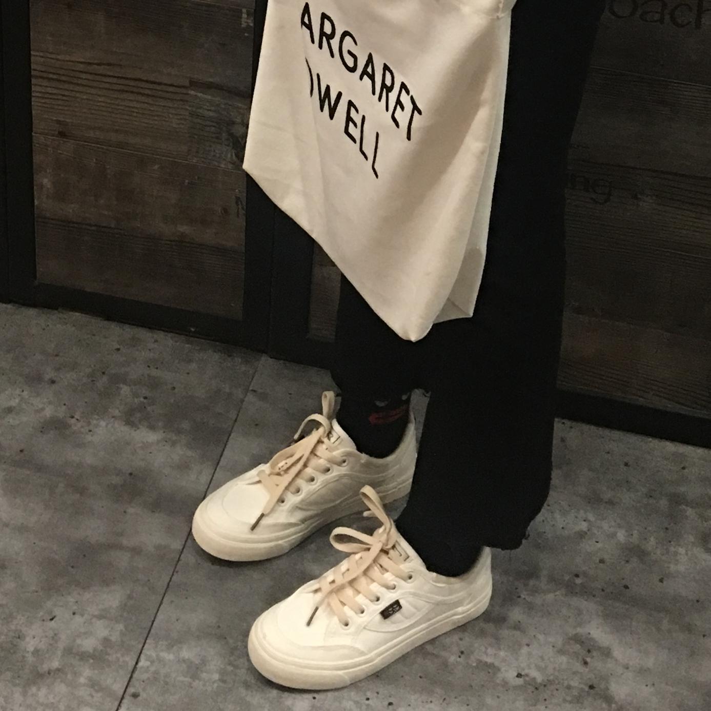 七七主人家 chic韓風鞋子女學生原宿風ulzzang帆布鞋女百搭小白鞋