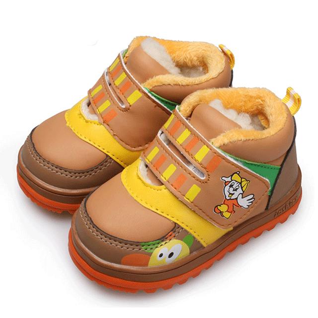 哈利宝贝冬款1-2-3岁加绒宝宝软底学步鞋男童女童鞋子婴儿童棉鞋