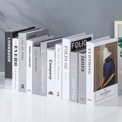 简约现代北欧风格假书仿真书装饰品道具摆设模型创意客厅书柜摆件