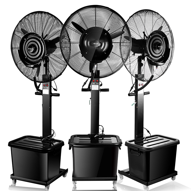 Ventilador umidificador névoa pulverizador industrial ventilador de refrigeração ventilador de refrigeração refrigerado a água de pulverização de água