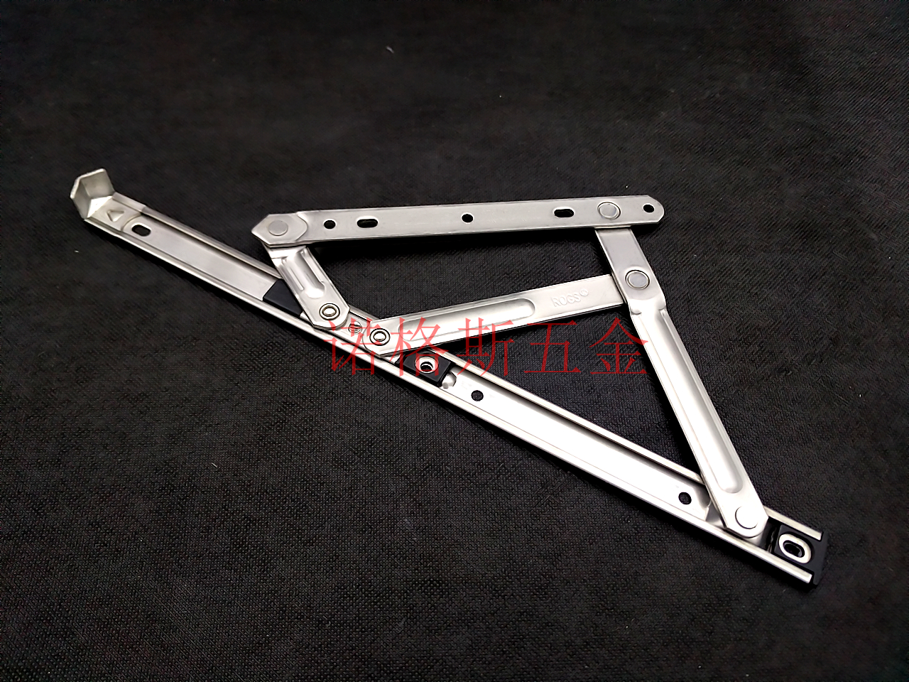 Stainless steel slide plastic hinge Bengkaichuang positioning wind bracing Aluminum Alloy Bengkaichuang wind brace four connecting rod hinge