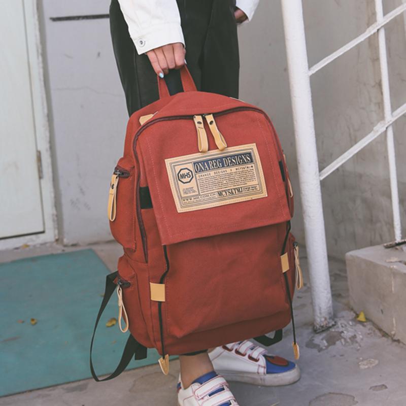 书包女学生韩版校园大背包森系双肩包学院风bf15.6寸电脑包男款