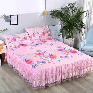 床裙冰丝凉席三件套1.8m床可水洗折叠夏凉席1.5米机洗空调软席子
