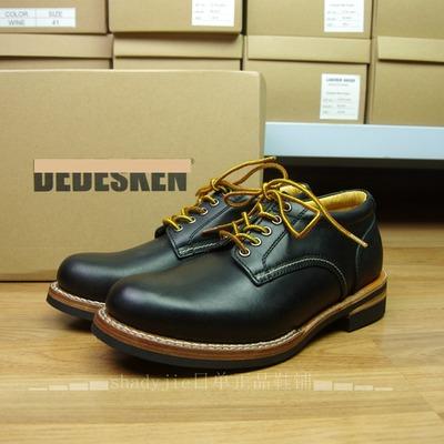 日本手工固特异缝制 复古咔叽男士休闲中高帮靴美式牛皮工装靴原单