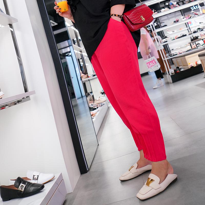 木子理想胯大腿粗的裤子收口小哈伦裤