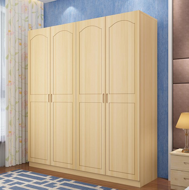 Les enfants de trois à quatre portes en bois de pin de l'armoire de la porte d'armoire armoire armoire armoire moderne de bois