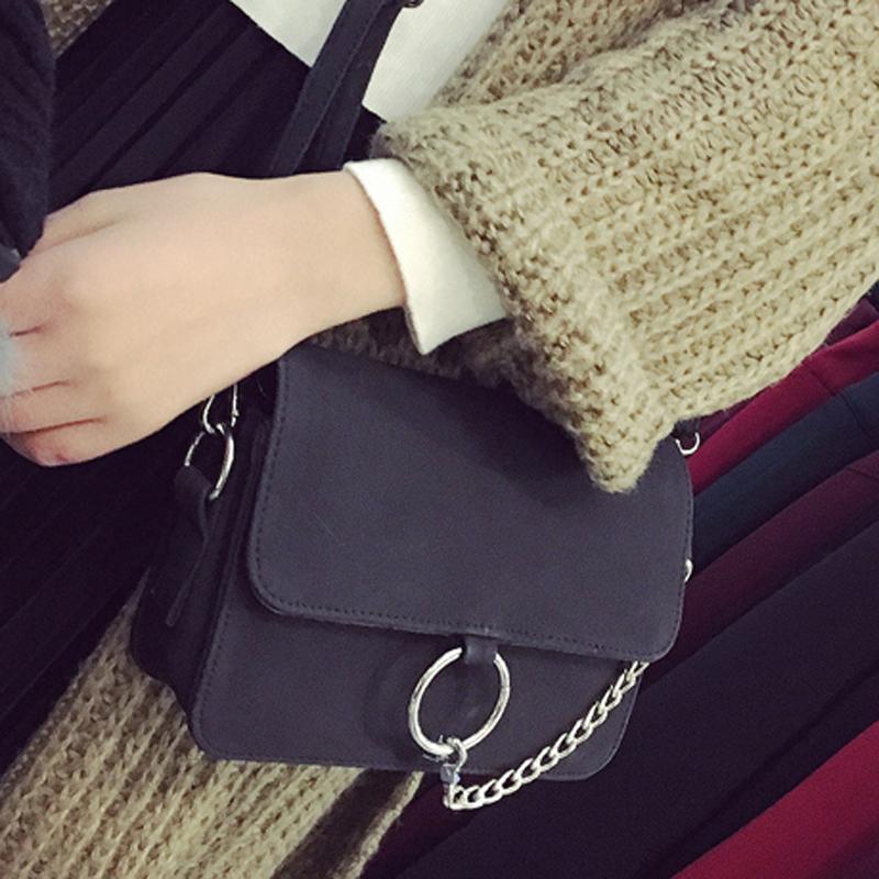 包包2017新款女包韩版简约复古百搭链条包单肩小包包小方包斜挎包