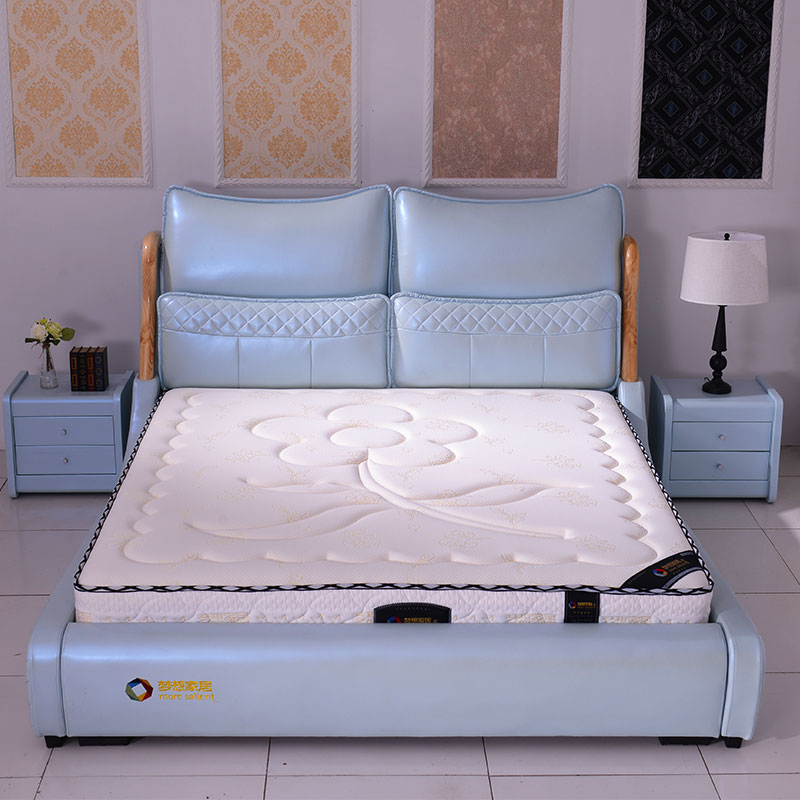 Dream Home Furnishing leather leather bed bed Jane modern marriage bed princess bed double bed direct large-sized apartment