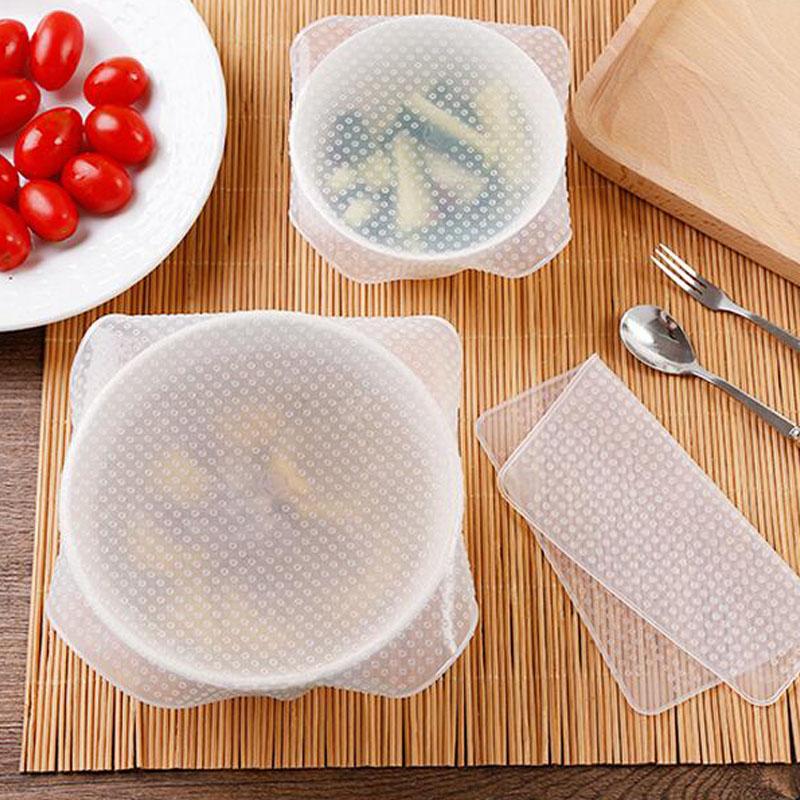 家用食品級多功能硅膠保鮮膜蓋透明密封碗蓋可拉扯微波爐加熱