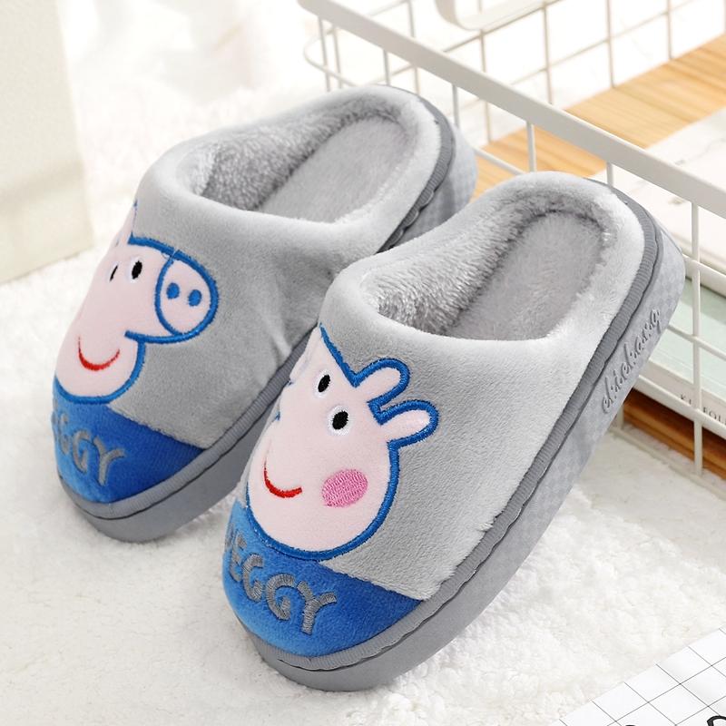 天天特价 秋冬季儿童棉拖鞋可爱宝宝室内拖鞋男童女童小孩包跟