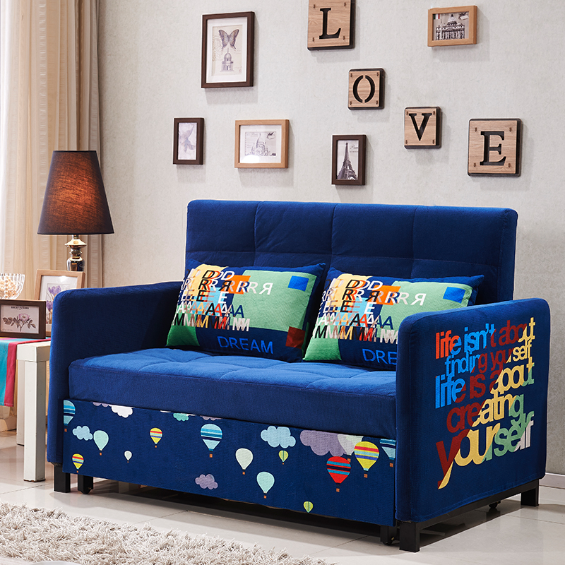 Sofa bed can be folded 1.2 meters, 1.5 meters, small apartment, multi-functional double, simple and modern dual-use latex sofa