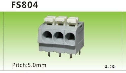 L'espacement de sous - FS804-5.0MM Reyes de connexion de borne de câblage de type ressort