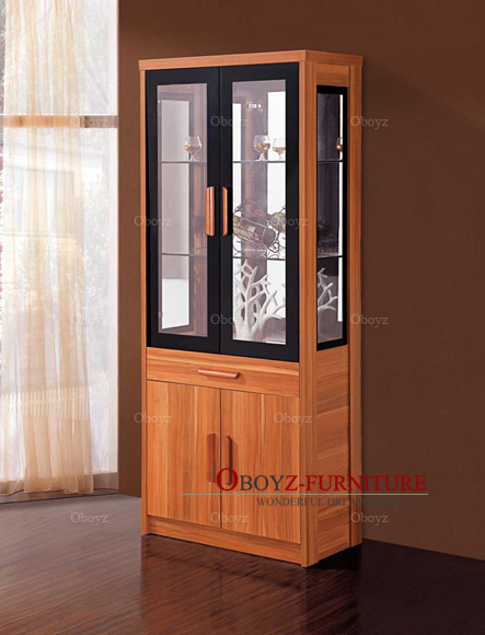 Fashion storage cabinet, simple modern wine cabinet, double door glass locker, living room, restaurant, panel furniture