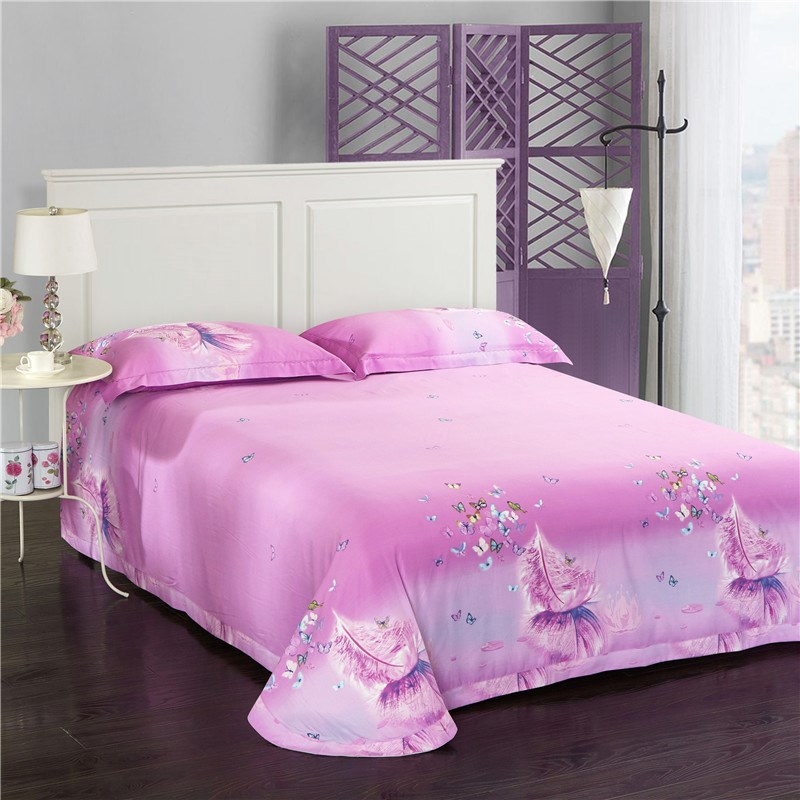 Double sided sanding four piece thick warm winter suite soft velvet warm bed linen scent made different dance Tencel