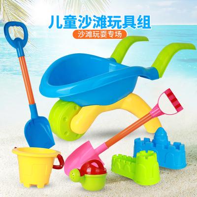 儿童沙滩玩具铲套装桶海边四岁海边玩沙子的小铲子沙土男孩户外。