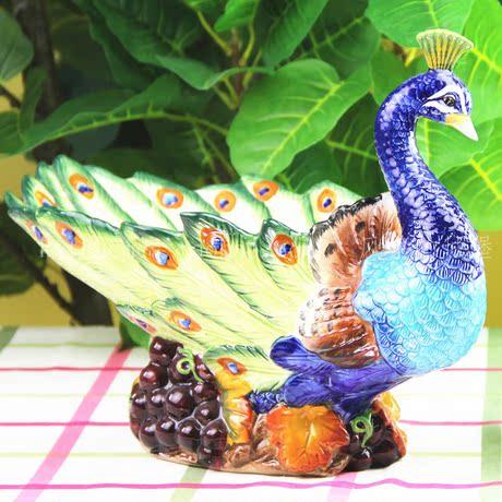 Fang, я керамики Павлин летающих Юго / фрукты чаша из воды чаши/дом этот новый год 3201K