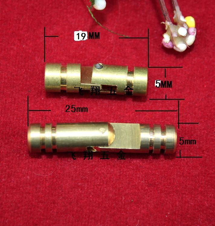 5 * 19MM cilíndrico de regalo material de apoyo bisagra bisagra bisagra bisagra bisagra cilíndrico de madera de cobre