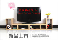 L TV cabinet combination of modern simple TV cabinet IKEA fashion living room free combination TV cabinet