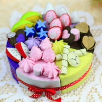 Special offer diffuse cloth nonwoven materials package DIY manual material package of fruit birthday cake gift product imports