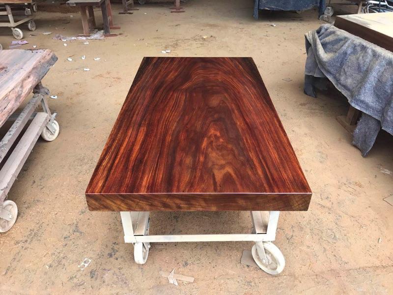 168 *, plaque en bois massif de 90 * 10 log table table de thé