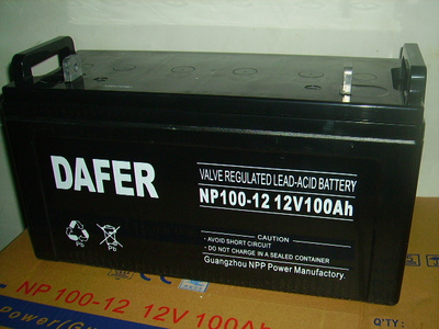 DAFER Germany battery NP100-12,12V100AH warranty for three years, UPS/EPS DC screen dedicated