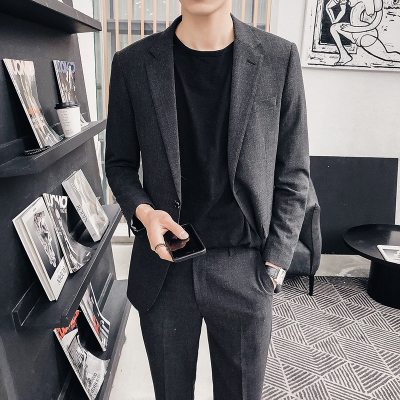 Men's Suits Spring and summer Korean version of the slim suit male trend handsome casual