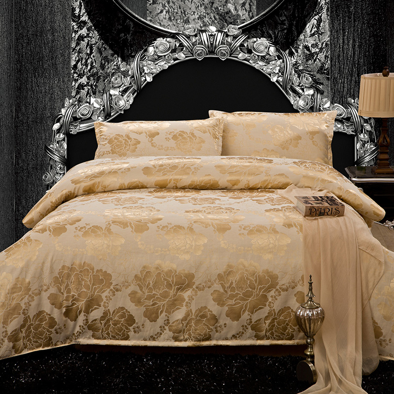 Cathy and square meters of genuine textile Cotton Satin Jacquard four piece soft cotton wedding four piece bedding