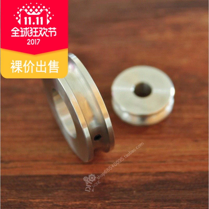 8mm Round groove U groove pulley processing single groove, double groove, multi groove pagoda pulley, belt pulley processing a variety of inner hole